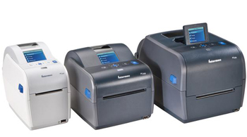 PC23d, PC43d, and 43t Desktop Printes with LCD Screens in a group